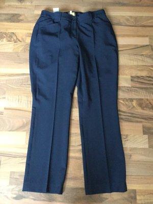 Alfredo Pauly Pantalone elasticizzato blu scuro