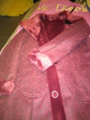 Alfredo Pauly Veste en fausse fourrure rouge foncé