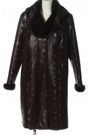 Alfredo Pauly Fake Fur Coat brown-black animal pattern elegant