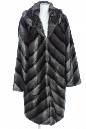 Alfredo Pauly Fake Fur Coat light grey-black color gradient casual look