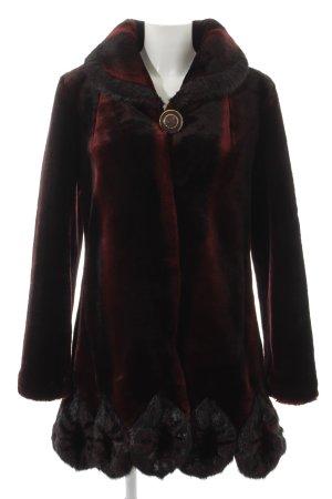 Alfredo Pauly Fake Fur Coat black-dark red color gradient extravagant style