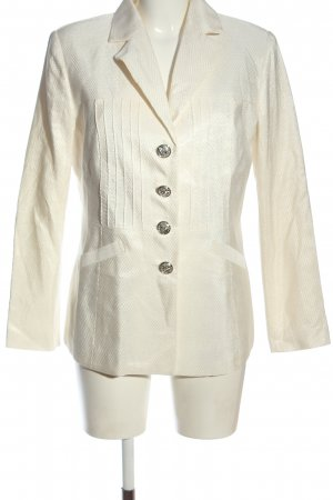 Alfredo Pauly Krótka marynarka w kolorze białej wełny W stylu biznesowym