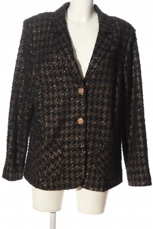 Alfredo Pauly Short Blazer black-gold-colored allover print business style