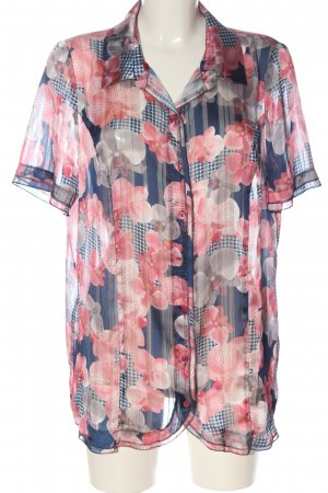 Alfredo Pauly Short Sleeve Shirt blue-pink allover print casual look