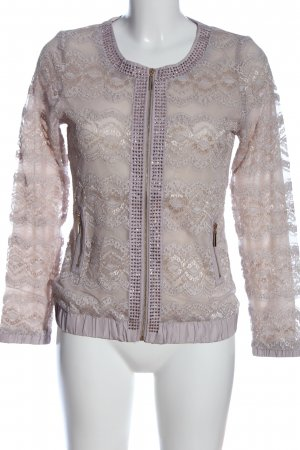 Alfredo Pauly Short Jacket pink flower pattern casual look