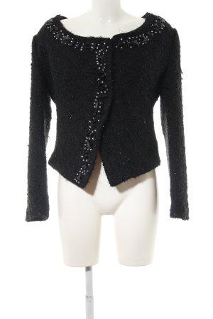 Alfredo Pauly Short Jacket black spot pattern casual look