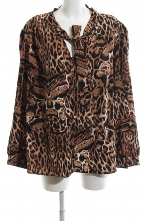 Alfredo Pauly Long Sleeve Blouse bronze-colored allover print business style