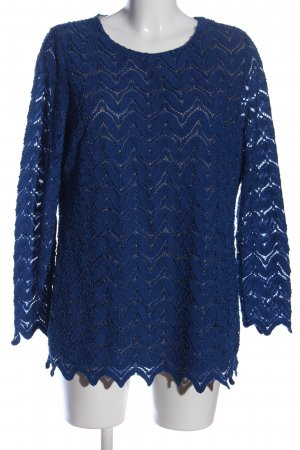 Alfredo Pauly Long Sleeve Blouse blue business style