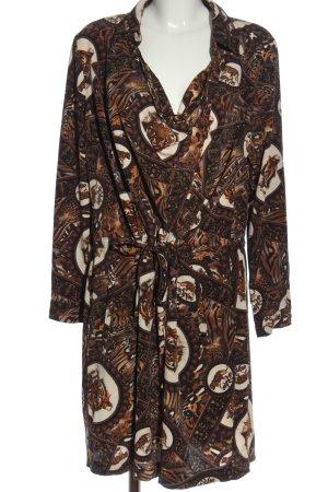 Alfredo Pauly Sukienka z długim rękawem Łączone wzory W stylu casual