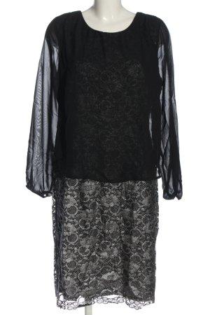 Alfredo Pauly Sukienka z długim rękawem czarny W stylu biznesowym