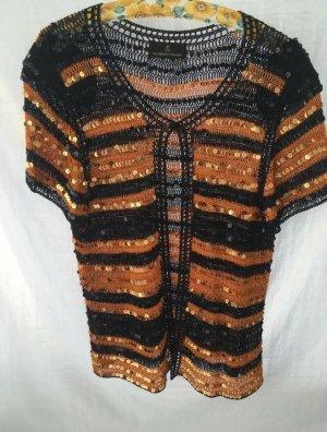 Alfredo Pauly Knitted Vest black brown-light brown