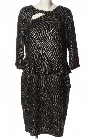 Alfredo Pauly Midi Dress black-gold-colored allover print business style