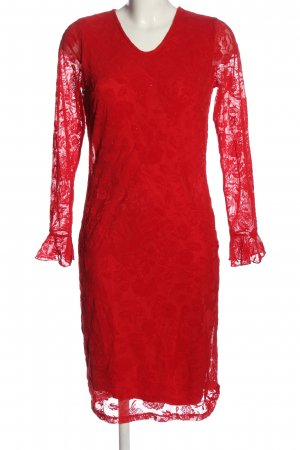 Alfredo Pauly Lace Dress red elegant