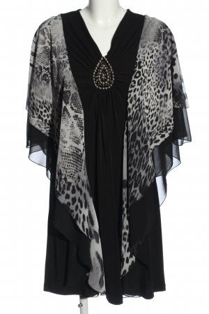 Alfredo Pauly Poncho black-white casual look