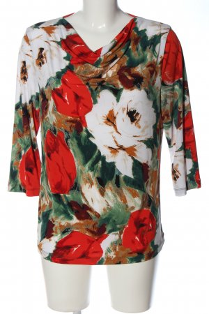 Alfredo Pauly Slip-over Blouse flower pattern casual look