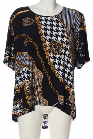Alfredo Pauly Slip-over Blouse abstract pattern casual look
