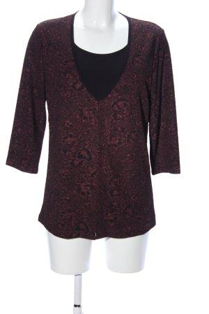 Alfredo Pauly Slip-over blouse bloemenprint zakelijke stijl