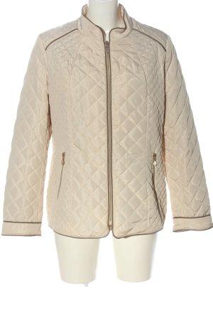 Alfredo Pauly Pikowana kurtka kremowy Pikowany wzór W stylu casual