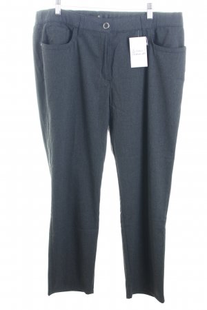 Alfredo Pauly Jersey Pants anthracite flecked classic style