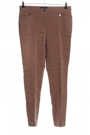 Alfredo Pauly Jersey Pants brown allover print casual look