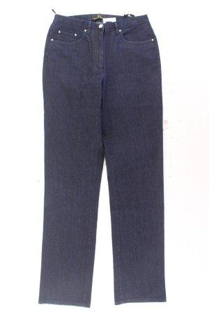 Alfredo Pauly Jeans a gamba dritta blu-blu neon-blu scuro-azzurro Cotone