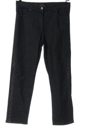 Alfredo Pauly Jeans a gamba dritta grigio chiaro motivo a righe stile casual