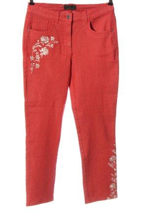 Alfredo Pauly Jeans a gamba dritta rosso stile casual