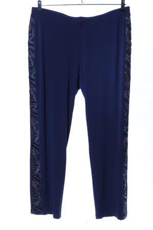 Alfredo Pauly Stretch broek blauw casual uitstraling