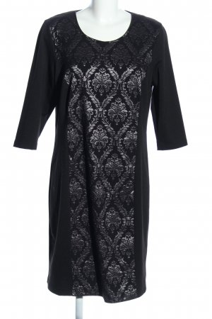 Alfredo Pauly Stretch Dress black-silver-colored abstract pattern casual look