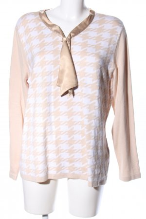 Alfredo Pauly Pull tricoté crème-blanc imprimé allover style décontracté