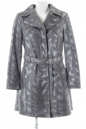 Alfredo Pauly Between-Seasons-Coat light grey-silver-colored animal pattern