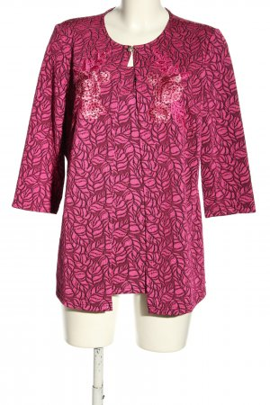 Alfredo Pauly Woven Twin Set pink-black allover print casual look