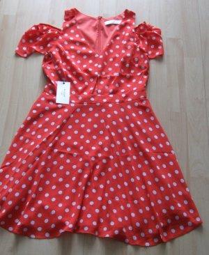 Ali & Jay Chiffon jurk rood