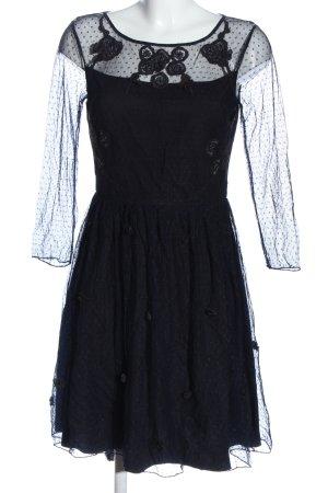 Alice by Temperley Sukienka z długim rękawem czarny-niebieski W stylu casual