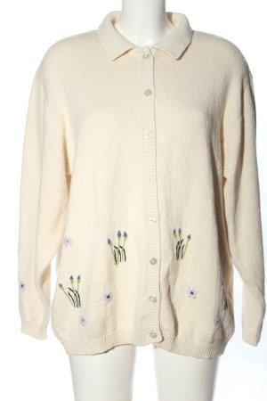 Alice Collins Jersey de punto grueso blanco puro estampado floral look casual