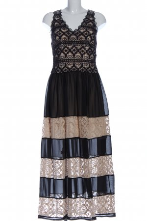 Alice + Olivia Evening Dress natural white-black striped pattern elegant