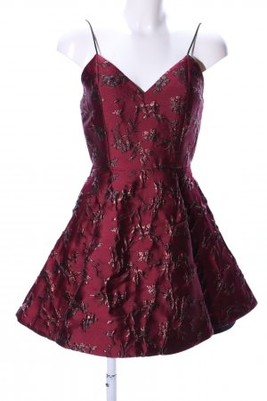 Alice + Olivia Balloon Dress red flower pattern elegant