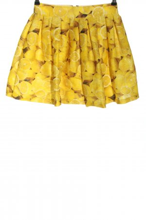 Alice + Olivia Gonna a pieghe giallo pallido stampa integrale stile casual