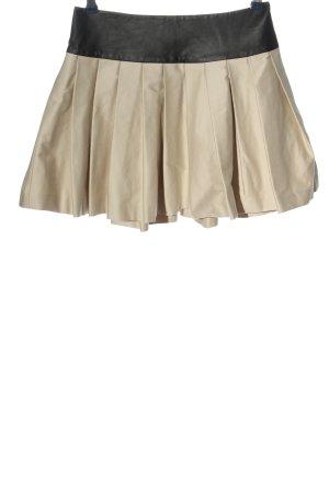 Alice + Olivia Rozkloszowana spódnica w kolorze białej wełny-czarny