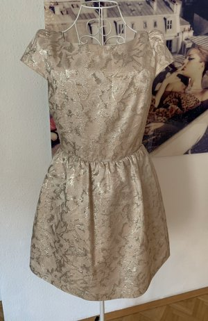 Alice + Olivia Cocktail Dress gold-colored-natural white