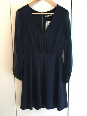 Alice + Olivia Mini Dress dark blue mixture fibre