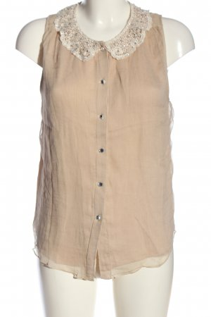 Alice + Olivia Short Sleeved Blouse nude casual look