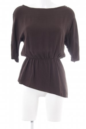 Alice + Olivia Short Sleeved Blouse dark brown simple style