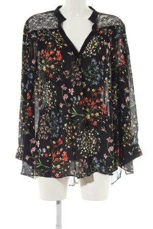 Alice + Olivia Long Sleeve Blouse flower pattern business style