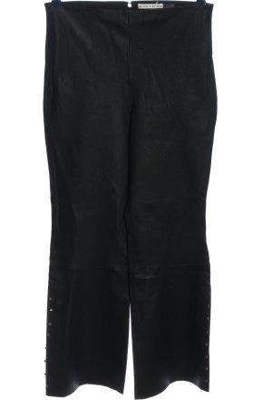 Alice + Olivia Skórzane spodnie czarny W stylu casual