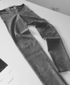 Alice + Olivia Leather Trousers grey leather