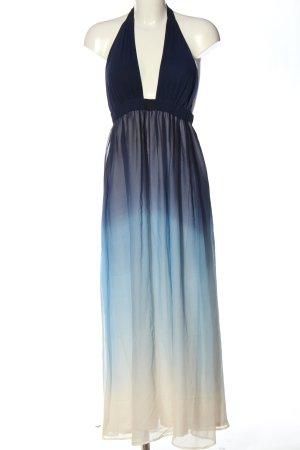 Alice + Olivia Vestido largo azul-blanco puro degradado de color look casual