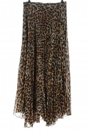 Alice + Olivia Maxi Skirt brown-black animal pattern casual look