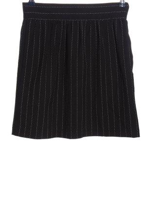 Alice + Olivia Minifalda negro estampado a rayas look casual
