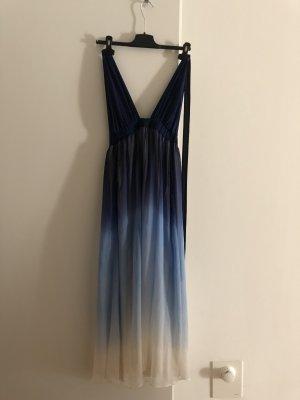 Alice + Olivia Halter Dress multicolored silk